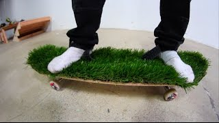 Download ARTIFICIAL GRASS BOARD WITH NO SHOES! | YOU MAKE IT WE SKATE IT EP 76 Video