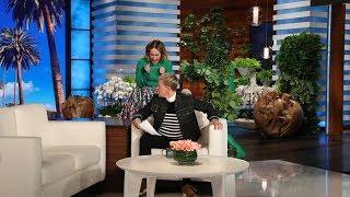 Download Sarah Paulson Attempts to Get a Scare Revenge on Ellen Video