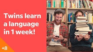 Download Identical Twins Attempt To Learn A Language In A Week | Babbel Video