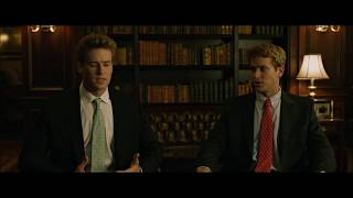 Download Larry Summers and the Winklevoss twins Scene from The Social Network Video