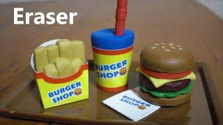 Download DIY Eraser Kit 3 - Let's Make Hamburger shaped Eraser 🍔 Video