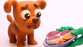 Download Puppy dog 💕Superhero Play Doh Stop motion cartoons for kids Video