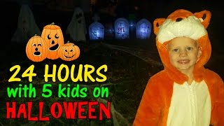 Download 24 Hours with 5 Kids on Halloween in Washington DC Video