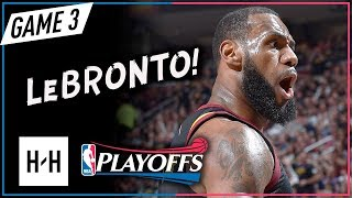 Download LeBron James EPIC Full Game 3 Highlights Cavs vs Raptors 2018 Playoffs ECSF - 38 Pts, GAME-WINNER! Video