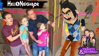 Download HELLO NEIGHBOR in Real Life in HUGE Box Fort Escape Room!!! Escaping Hello Neighbor! Part 4 Video