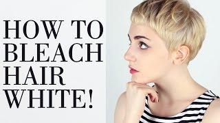 Download How to Bleach Hair White. Bleaching Tutorial - 탈색 적게해서 흰머리 만드는 과정 Video