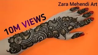 Download Beautiful Arabic Henna Design| #9 Zara Mehendi Art Video