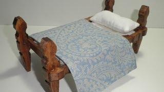 Download tutorial para hacer una cama con pinzas de madera / tutorial to make a bed with wooden pegs Video