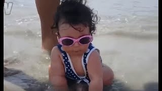 Download FUNNY BABIES BEACH FAILS - Only ROBOTS will not LAUGH while watching this kids Compilation! Video