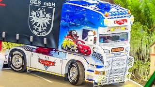 Download RC truck SPECIAL Epic SCANIA trucks in action! Disney Cars & much more! Video