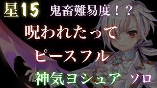 Download 【白猫プロジェクト】星15 鬼畜難易度!?呪われたってピースフル 神気ヨシュア ソロ Video