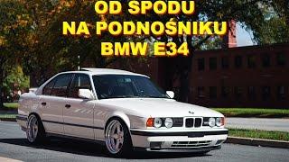 Download OD SPODU #8 NA PODNOŚNIKU KLASYCZNE BMW E34 535i zawieszenie hamulce podwozie progi Video