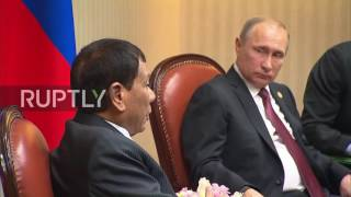 Download Peru: Putin meets Philippines President Duterte on APEC sidelines in Lima Video