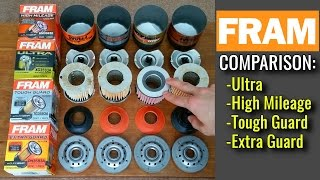 Download FRAM Oil Filters Cut Open! Extra Guard vs Tough Guard vs High Mileage vs Ultra Synthetic (4K!) Video
