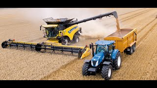 Download New Holland CR10.90 combine Guinness World Records attempt Video