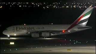 Download 3 AWESOME Airbus A380 NIGHT Takeoffs | Qatar Emirates Etihad ● Melbourne Airport Plane Spotting Video