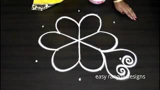 Download Simple n creative 5 dots kolam arts    easy rangoli flower designs    new muggulu patterns Video