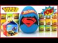 Download BATMAN vs SUPERMAN Hot Wheels Superheroes Play-Doh Surprise Egg 2016 McDonalds Happy Meal Kids Toys Video