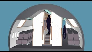 Download New aircraft cabin design to improve comfort in economy and business classes. Video