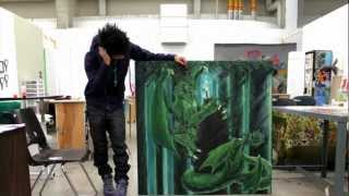 Download Acrylic Forest Dragon Speed Painting Video