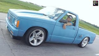 Download MINI TRUCK ROADTRIP TO CARSHOW | Air Ride Chevys cruise for free fries! Video