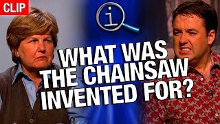 Download QI | What Was The Chainsaw Invented For? Video