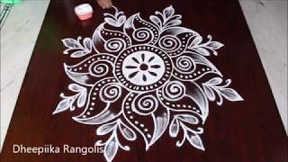 Download creative freehand muggulu design without dots * simple kolam for beginners * easy rangoli patterns Video