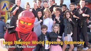 Download Lego Ninjago World Opens at Legoland Florida Resort with Cast of Fuller House Video