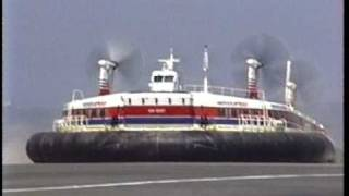 Download 1991.08 Hoverspeed dover calais ferry service - hovercraft Video