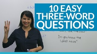 Download Learn 10 Easy 3-Word Questions in English Video