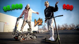Download WEIRD NEW $8,000 OFF-ROAD SCOOTER VS TFOX PRO SCOOTER! Video