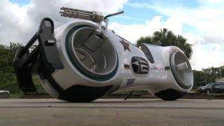 Download Take a ride on a real Tron bike Video