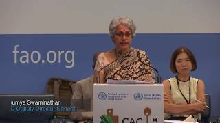 Download WHO Deputy Director-General Soumya Swaminathan at the Codex Alimentarius Commission Video