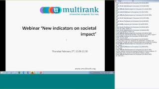 Download UNICO Webinar: New indicators on societal impact Video