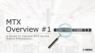 Download Yamaha MTX/MRX MTX Overview #1 Video
