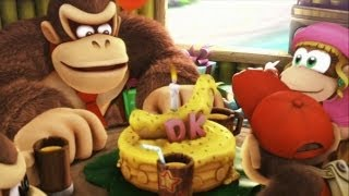 Download Donkey Kong Country Tropical Freeze 100% Walkthrough - World 1-1, 1-2 (KONG Letters & Puzzle Pieces) Video