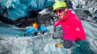 Download Iceland South Shore Glacier Walk and Ice Climbing Video