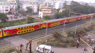 Download Compilation of AC Train of Indian Railway Crossing From Navsari(NVS) Video