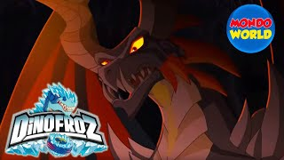 Download DINOFROZ episode 4 | Dinosaur cartoon | Dino fights | A NEW ENEMY | Dinosaurs vs dragons Video