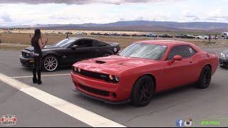 Download Challenger Hellcat takes on GT500 and Supra in Half Mile Racing! Video