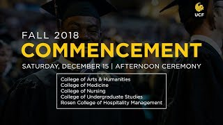 Download UCF Commencement: December 15, 2018 | Afternoon Ceremony Video