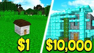 Download $1 HOUSE vs $10,000 MINECRAFT HOUSE! Video