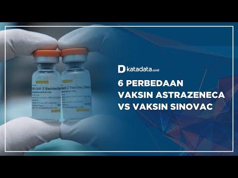 6 perbedaan Vaksin Astrazeneca Vs Vaksin Sinovac | Katadata Indonesia