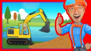 Download Construction Vehicles for Kids with Blippi | The Excavator Song Video