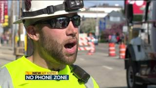 Download Police remind drivers to put cellphones away in work zones Video