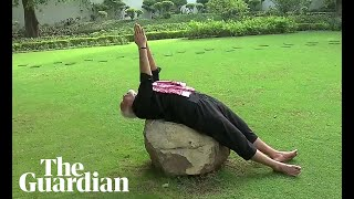 Download Stretch, bend and flex: Indian PM releases fitness video Video