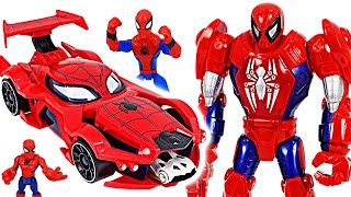 Download Red Hulk is angry!! Spider-man Web-car launcher and Mech suit armor! Go!   DuDuPopTOY Video