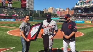 Download Cleveland Indians honor Victor Martinez as he heads into retirement Video