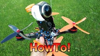 Download 360° Camera on a Race Drone: HowTo & Flight Video! Video