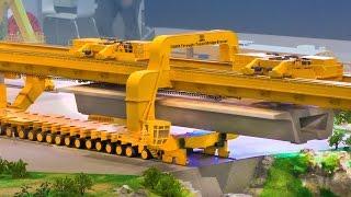 Download RC Crane: Bridge Building with TQ900 Through-Tunnel Bridge Erector | XXL RC Construction Site Video